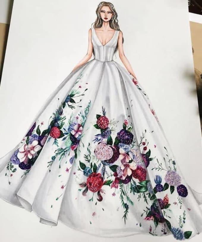 Illustrate Fashion Designs Sketch By Nada24