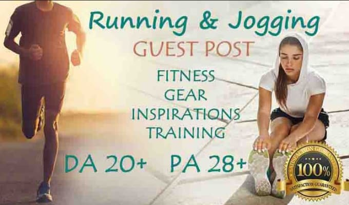 submit a guest post with quality backlink on a da 13 running and fitness blog