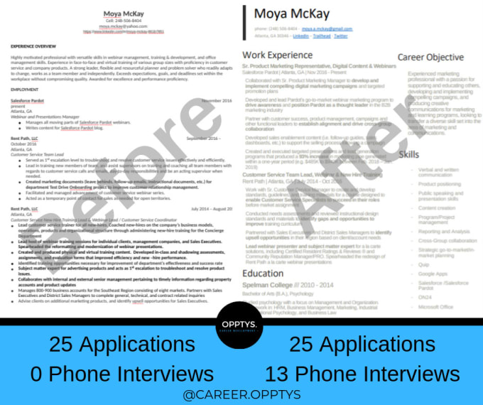 Update And Reformat Your Professional Resume By Careeropptys