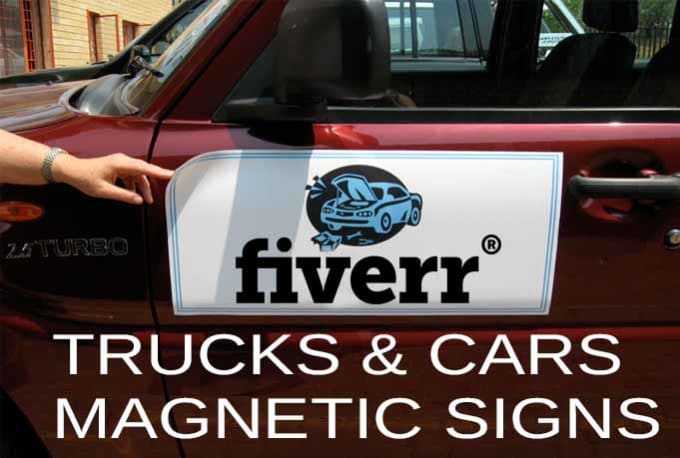 Create Custom Shaped Magnetic Advertising Signs For Car Van And