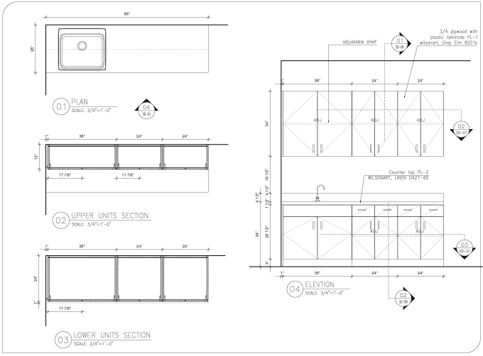 Drafting your dream kitchen cabinets by autocad and ...