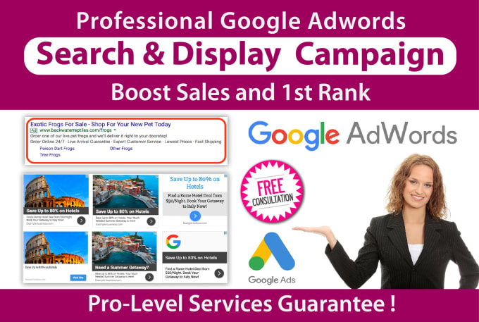 Setup Google Ads Search And Display Campaign To Generate Sales By Ceosudipta