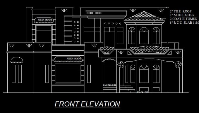 Draw 2d Floor Plans Elevations Cross Sections In Auto Cad By Umairaqeel
