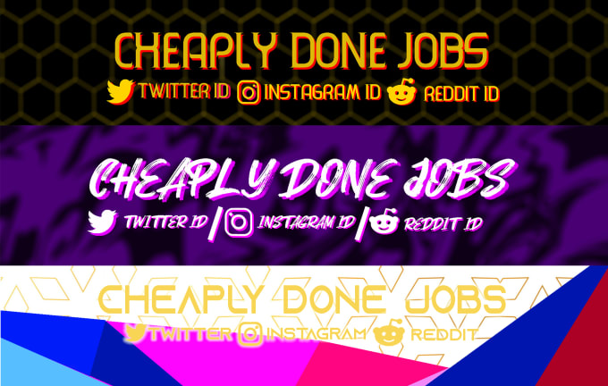 Design Youtube Channel Banners By Cheaplydone