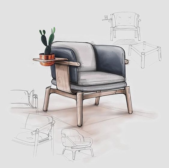 create and draw sketches of industrial design and products