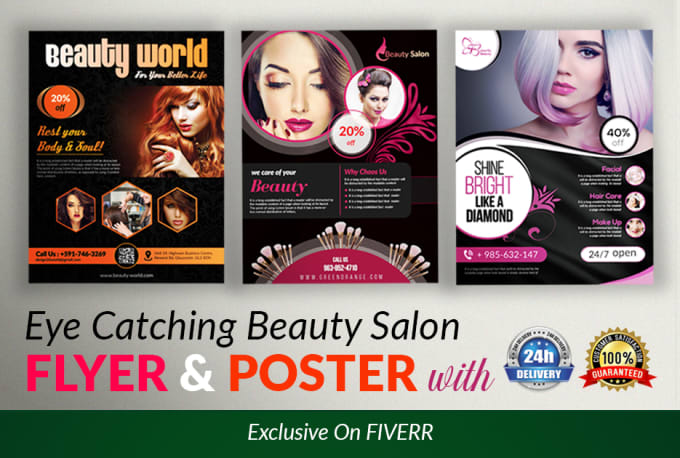 Design Awesome And Attractive Beauty Salon Flyer And Poster By Green Zone71