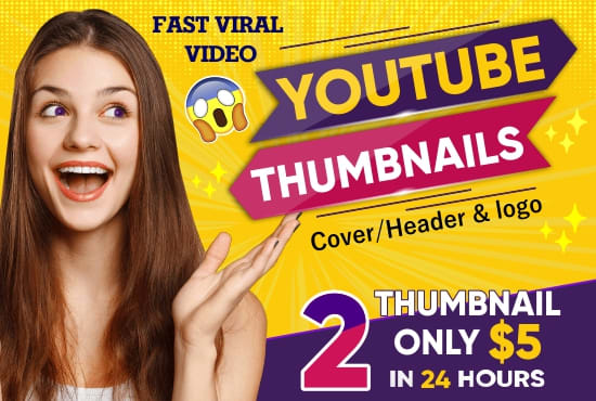 youtube thumbnail, channel art,banner, logo,header,facebook cover