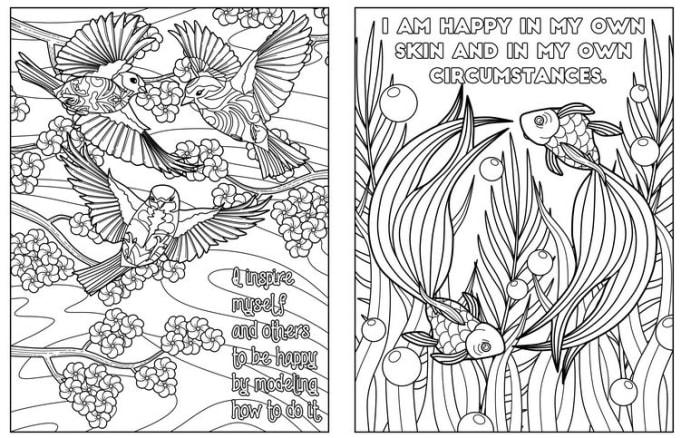 Give Printable Amazing Affirmation Adult Coloring Book Pages By  Coloringlife101 Fiverr