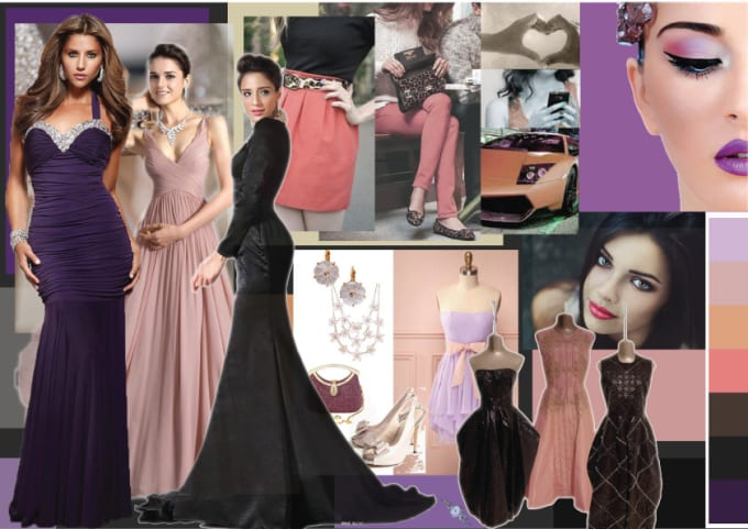 Create Theme Based Fashion Mood Boards Or Inspiration Boards By Chathurikalochi