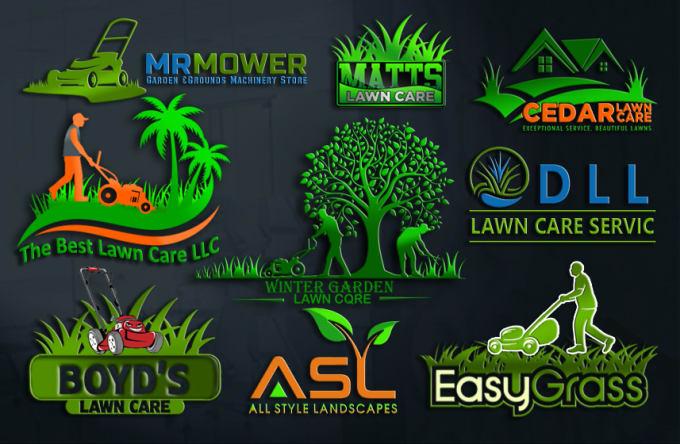 design lawn care, landscape, mower logo for you