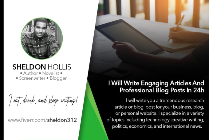 write engaging articles and professional blog posts in 24h
