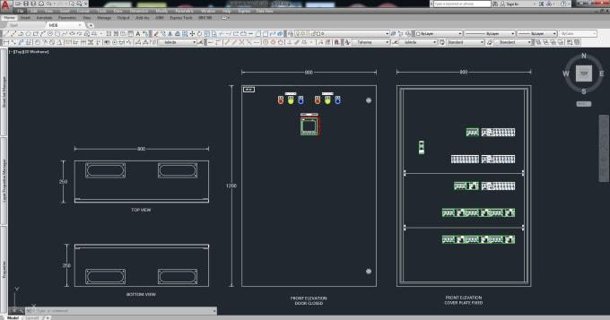 Design Electrical Panel Board Single Line Control Diagram By Rumeshamarasing