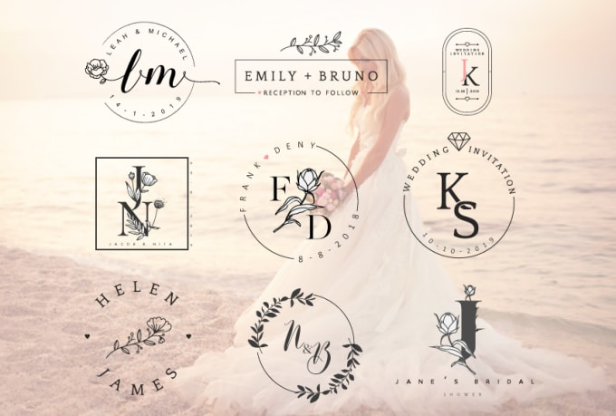 design beautiful elegant wedding monogram