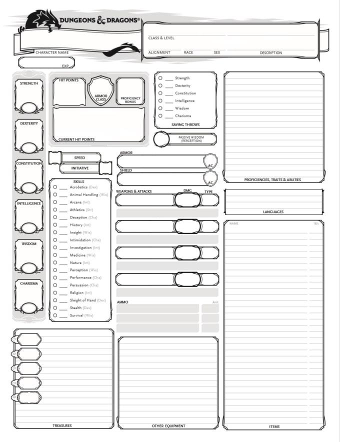 dnd character sheet
