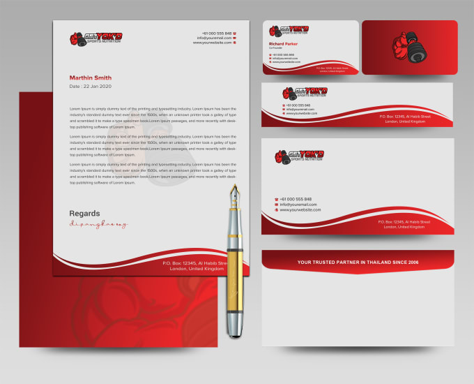 I will design business card, letterhead, and stationary