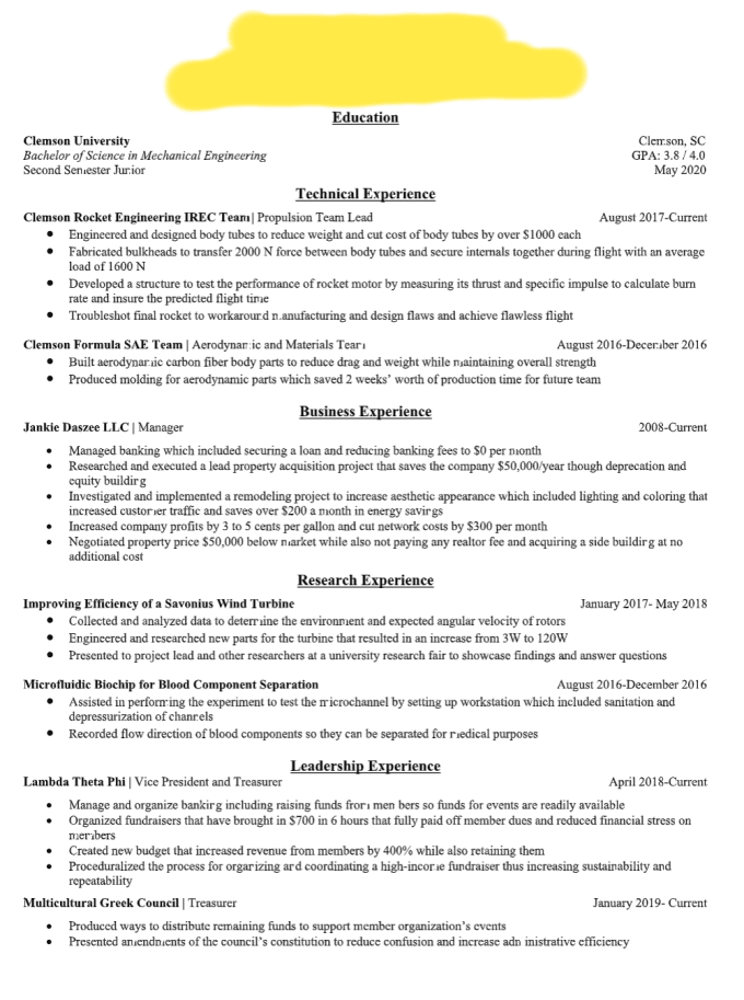 write or edit your entry level engineering resume
