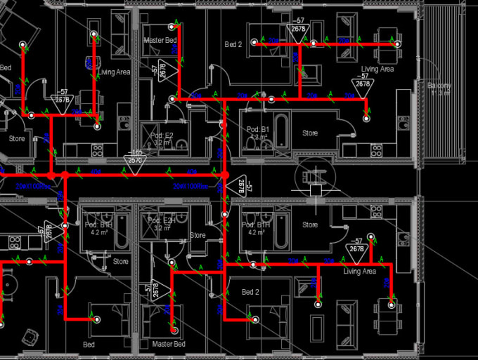 Draw Fire Protection System Shop Drawings Mto By