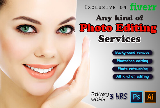 do any kind of photoshop editing in 3 hours