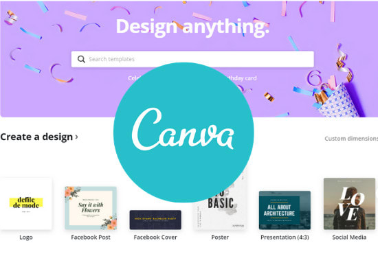 design anything in canva editable and reusable