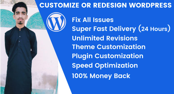 I will revamp redesign customize fix css issues wordpress website