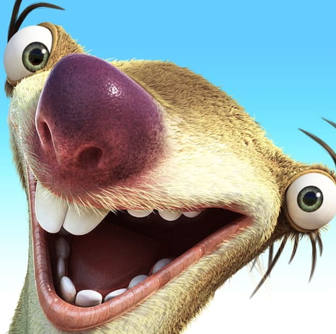 Do a sid the sloth from ice age impression for you by ...