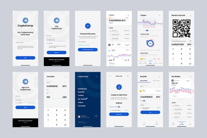 Create mobile app ui and website ui design by Selenapixels