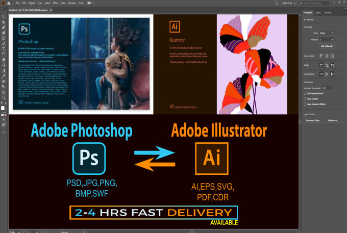 Vector Trace Convert Any Adobe Illustrator And Photoshop Work With Fast Delivery By Asiqurislam