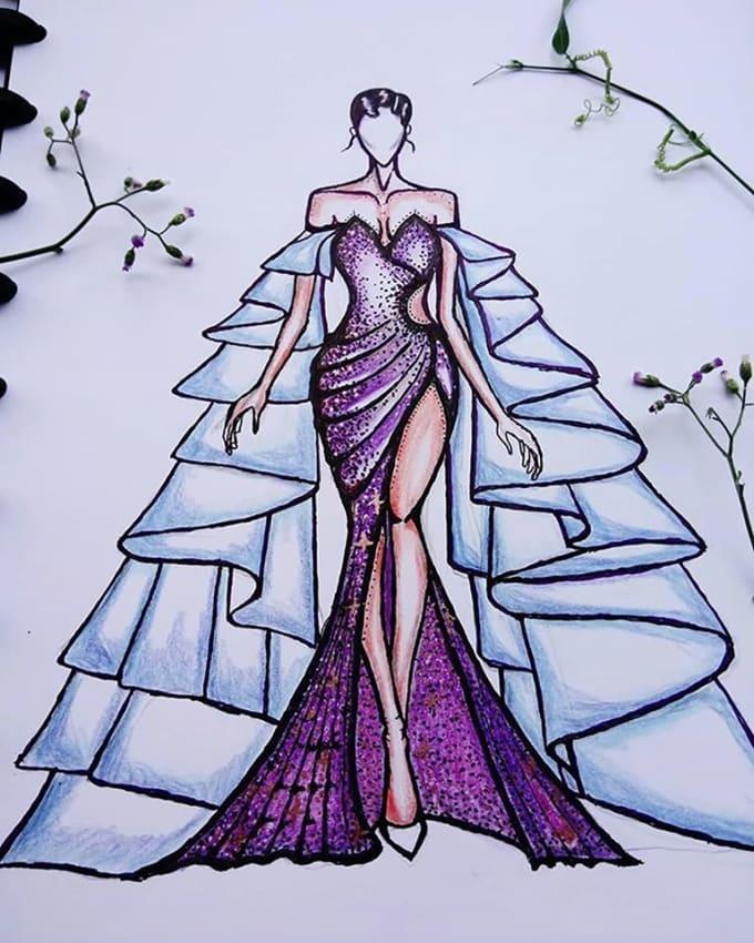 Draw Modern Fashion Design By Alineol Versaft