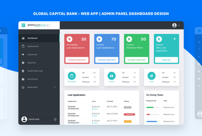 Create A Professional Custom Dashboard Saas Web App Design By Elimostudio