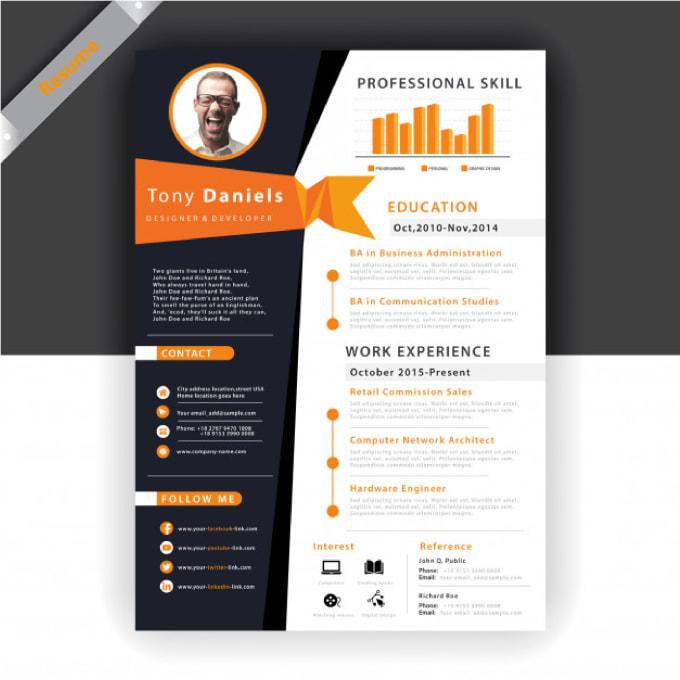 Do Resume Writing Modern Resume Design Cv By Bangdesigner