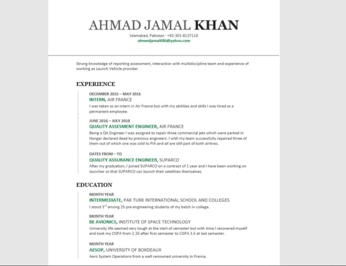 Make Cover Letter And Resume For You By Ultrajamal Fiverr