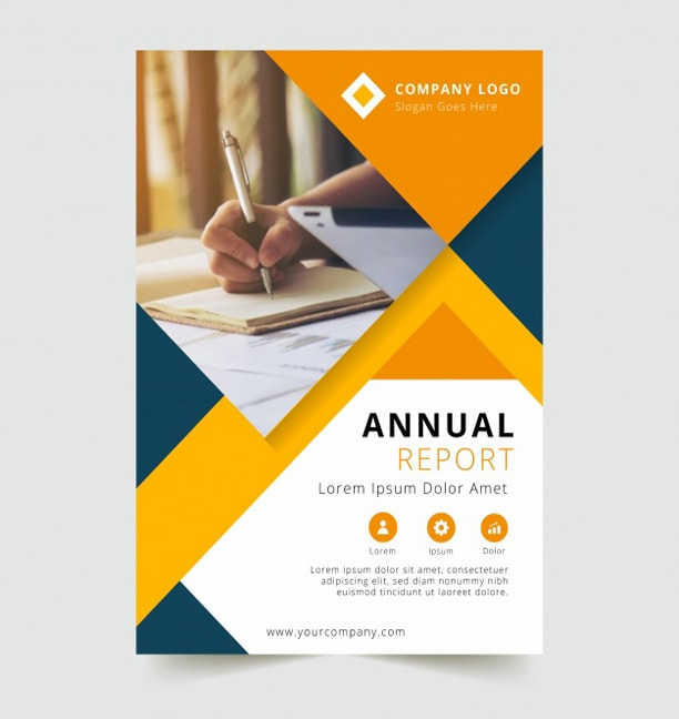 design professional flyer boucher book cover page  by