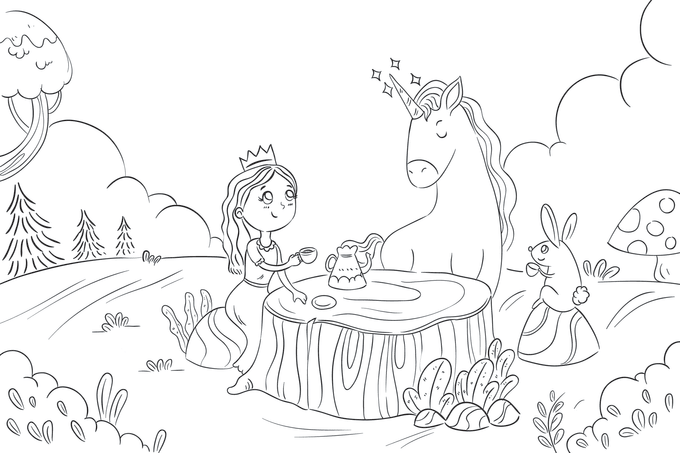 - Create Coloring Book Pages Illustration For Children By Windasimetri