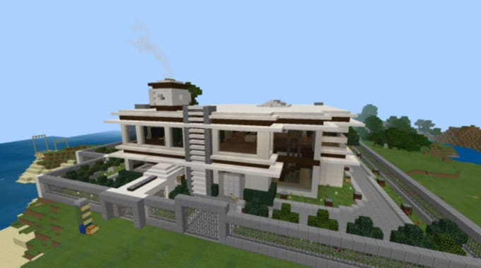 Build You A Modern House In Minecraft By Easyjapan Fiverr