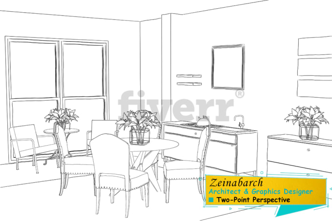 Draw 1 Point Perspective And 2 Point Perspective From Buildings And Things By Zeinabarch