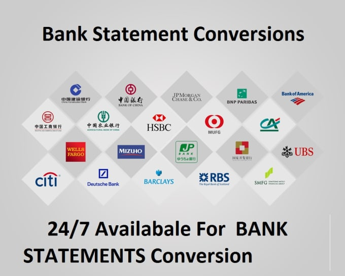 convert bank statement PDF to excel bank reconcile