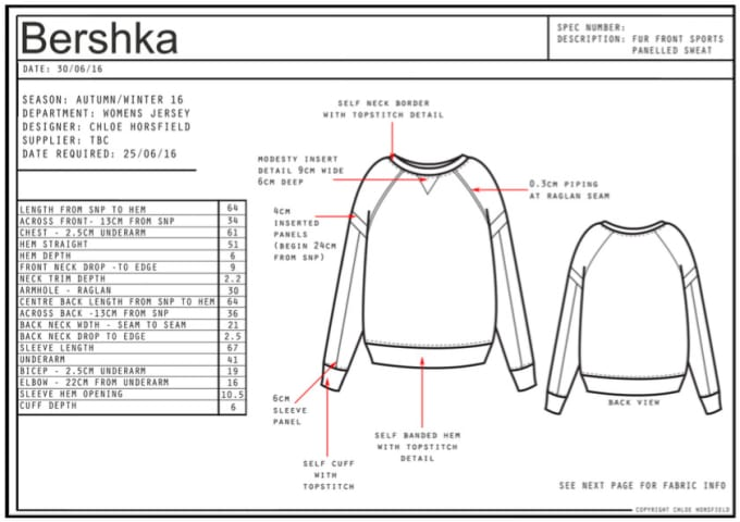 Create Fashion Cad Drawings And Tech Packs By Chloehorsfield