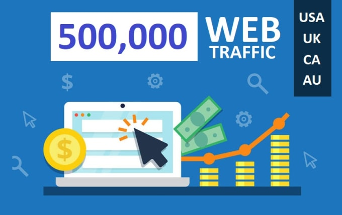 I will drive real 500,000 web traffic visitors to your website
