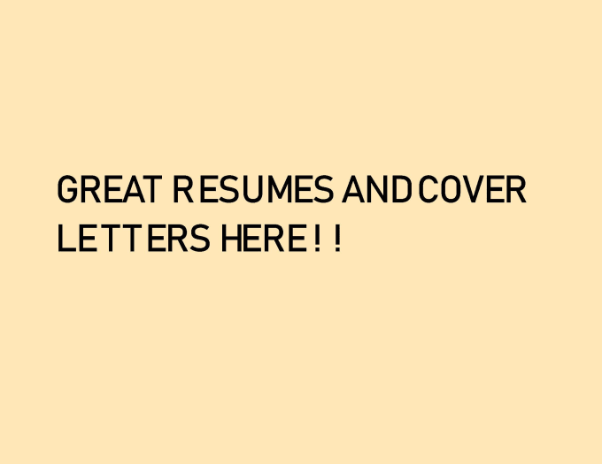 Help You Stand Out With Your New Resume And Cover Letter By Amberalvarez296 Fiverr