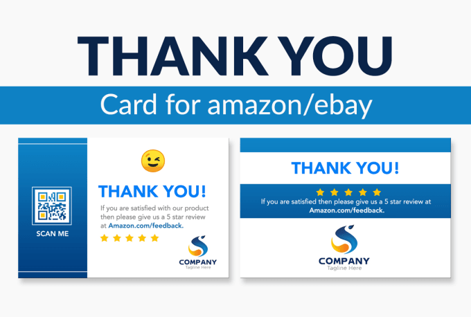 Design An Attractive Amazon Thank You Card Product Insert Package Insert By Sayed Pritom