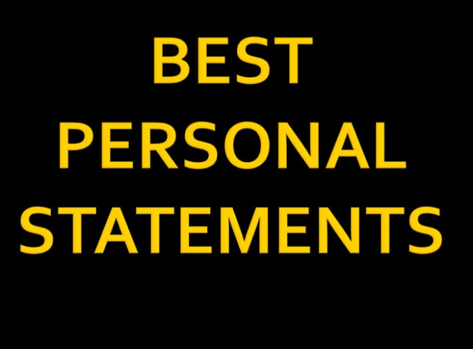Personal statement edit