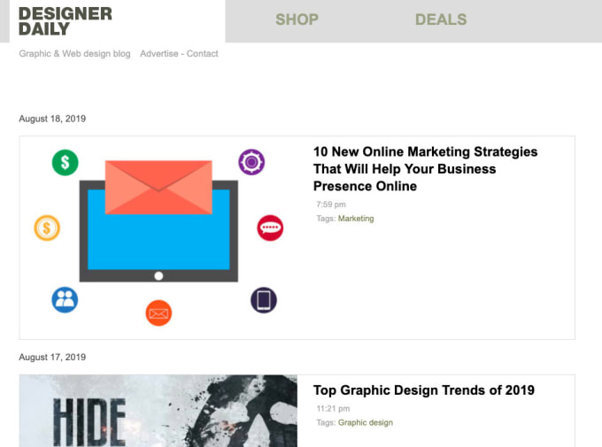Publish A Guest Post On Designer Daily About Web Design Photography By Dibrovaelena