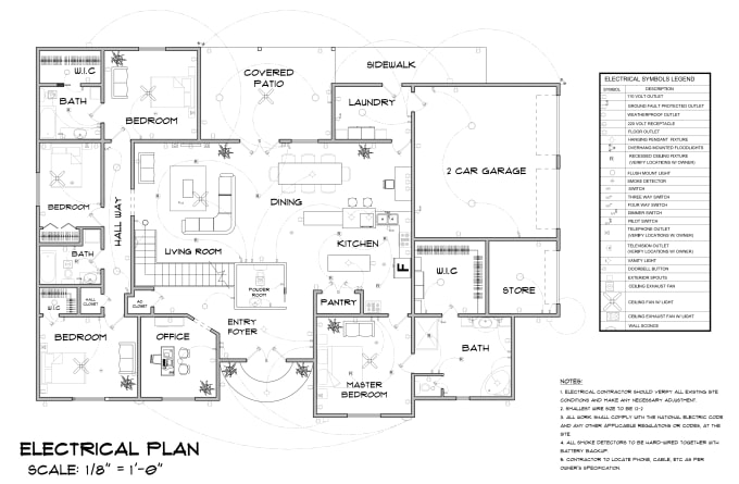 Draw electrical, plumbing and hvac plan to get permit by Quick_permits |  Fiverr | Hvac Plan Drawing Pictures |  | Fiverr