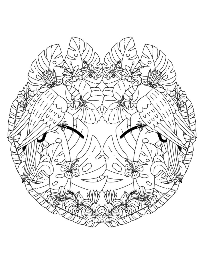 Give 18 Printable Jungle Mandalas Adult Coloring Pages By Coloringlife101  Fiverr