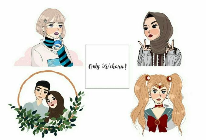 Draw Yourself Into Cute Cartoon By Rezkyekhi