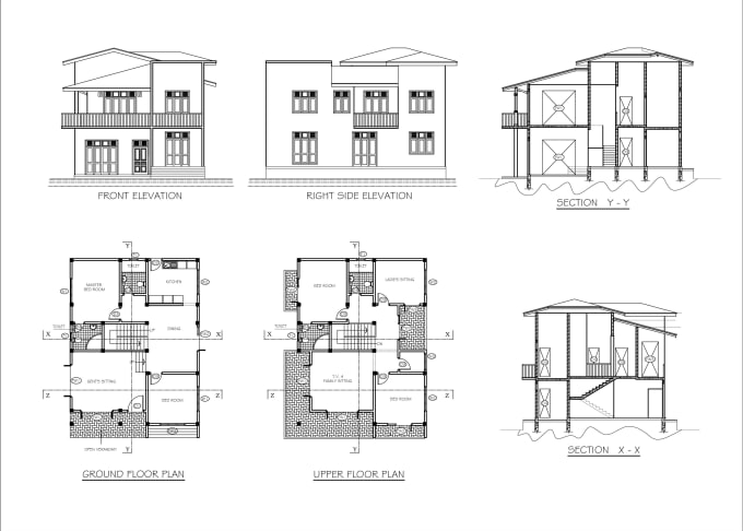 Draw Architectural Floor Plans Elevations And Sections By Cadman Sl Fiverr