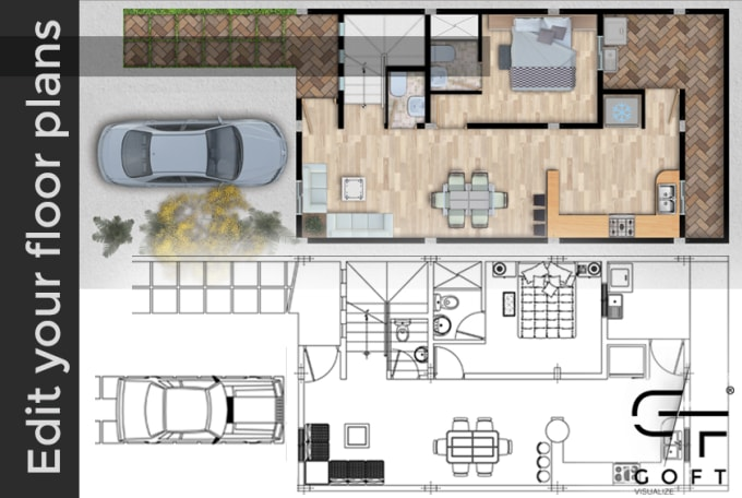 Do A Realistic Colour Drawings Plans To You Marketing Floor Plans By Yenderpirela Fiverr