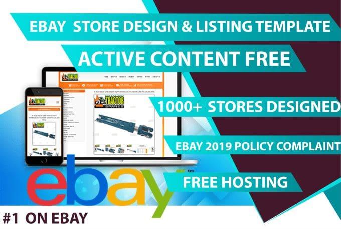 Design Responsive Ebay Listing Template 2019 By Originall81