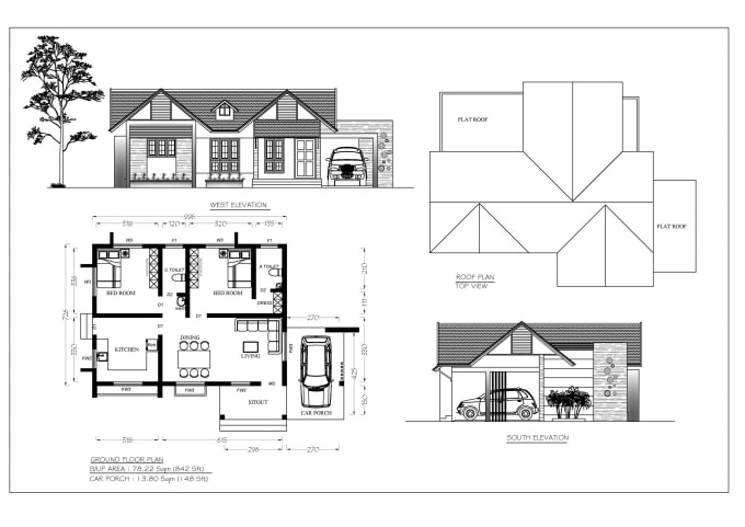 Draw Building Plan Cross Section And Elevation By Ambili Pk