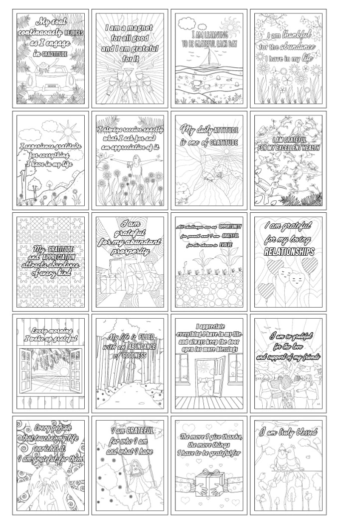 Provide 20 Affirmation Coloring Book Printable Pages By Tamikoriviere  Fiverr